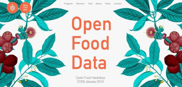 Open Food Hackdays 27/28 January 2018