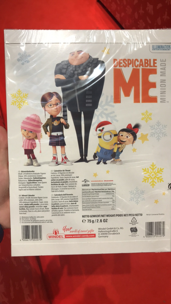 Weihnachtskalender Netto.Product Advent Calendar Despicable Me Minion Made The Open Food Repo