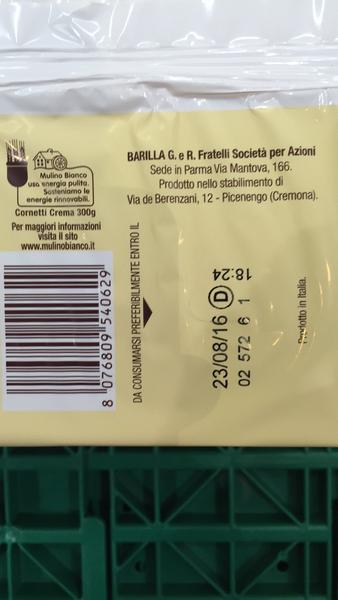 Produkt Barilla Mulino Bianco Crema Cornetti The Open Food Repo