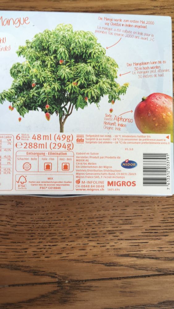 """Product """"Fruit Ice : Mango"""" 