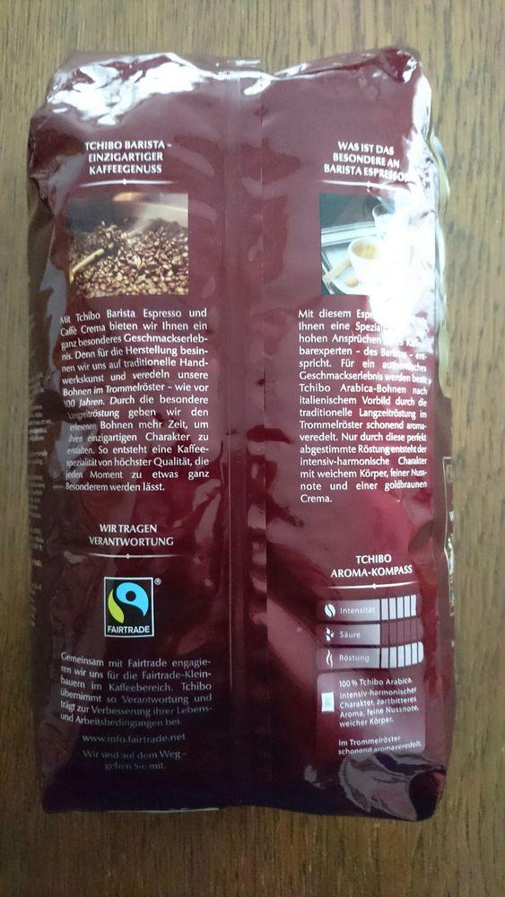 """Produkt """"Tchibo Barista Espresso""""   The Open Food Repo"""